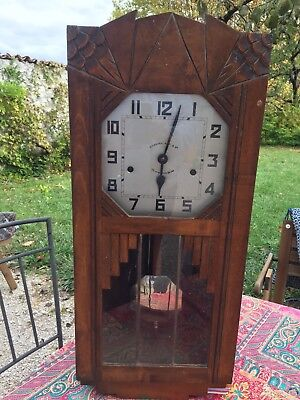 Art Deco Kienzle Wall Clock French German Westminster 8 Rods Hammers Vintage