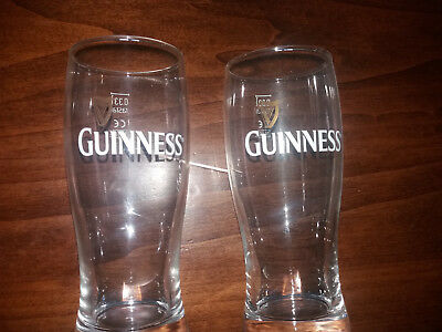 2 pz Bicchiere calice boccale beer birra Guinness  0,33 l pub bar stock lotto