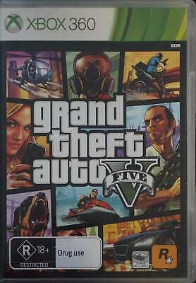 XBOX 360 GRAND Theft Auto GTA Five V Install & Game Discs - $13 99
