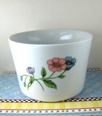 "HOUSE OF PRILL Porcelain SERVING SAUCE BOWL 5x3"" POPPY Pattern White discd"