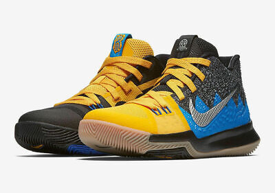 new arrival 89699 1a886 Boys Nike 3 What The (GS) AH2287-700 University Gold Blue Glow