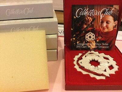 Longaberger 2002 Snow Days by Matthew Christmas Ornament New in Box NIB