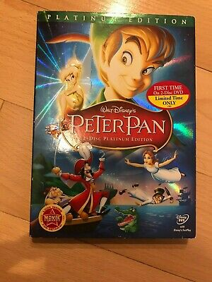 Peter Pan (DVD, 2007, 2-Disc Set, Platinum Edition) UNOPENED