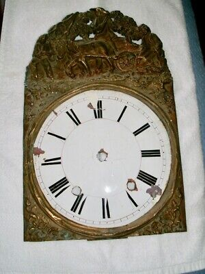 old french morbier grandfather clock dial