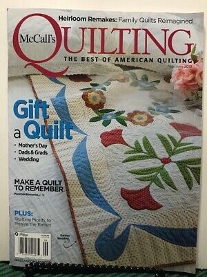 McCall's Quilting Gift Quilt Heirloom Remakes May/June 2019 FREE SHIPPING JB