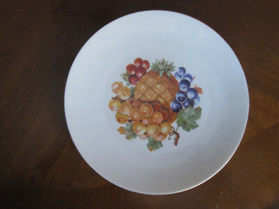 Vintage BAREUTHER WALDSASSEN Fruit Plate  Germany Plates 7 3/4""