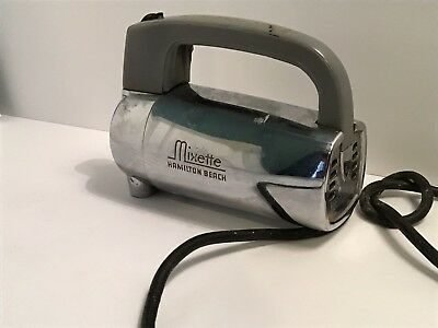 VINTAGE HAMILTON BEACH MIXETTE 3 speed MODEL 55C CHROME HAND MIXER ONLY