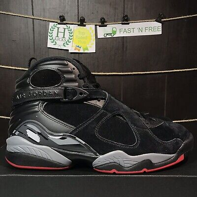brand new e8b65 cf15b Nike Air Jordan 8 Retro Bred Black Cement Red Wolf Grey 305381 022 Size 10  NBT