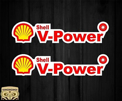 Pegatina Decal Sticker  Aufkleber Adesivi Autocollant 2X Shell V Power Laminated