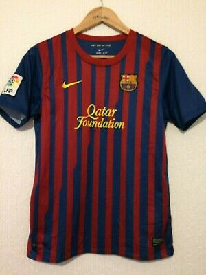 0010c9b4653 Barcelona F.c 2011   2012 Home Football Shirt ~   10 Messi