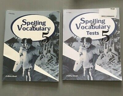 ABEKA 5TH GRADE Spelling Vocabulary Poetry 5 Student Tests And Test Key