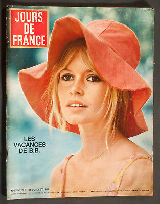 'jours De France' Vintage Magazine Brigitte Bardot Cover 24 July 1965