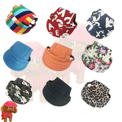 Outdoor Baseball Cap Canvas Puppy Small Pet Dog Cat Hiking Visor Hat Sunbonnet