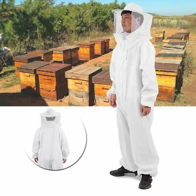 Cotton Beekeepers Bee Suit Professional Full Body Bee Remover Gloves Hat Clothes