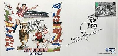 Stuart Pearce HAND SIGNED Nottingham Forest EURO 96 First Day Cover In Person