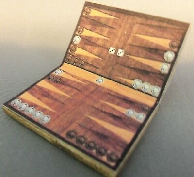 Dragonfly Int/'l 1//12th Scale Miniature Backgammon Game Kit