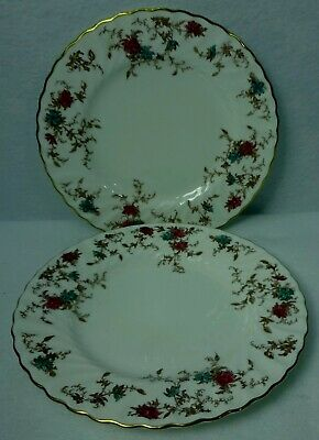 MINTON china ANCESTRAL S376 pattern Wreath Salad Plate - Set of 2 - 8""