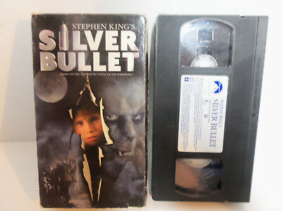 Silver Bullet 1991 Stephen King Horror Corey Haim Gary Busey Werewolf VHS Video