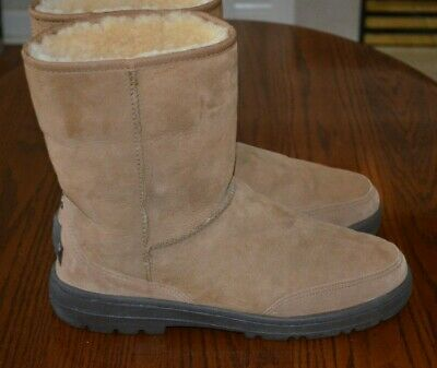 4cdade20c52 UGG AUSTRALIA ULTRA Short Women's Brown Leather Shearling Lined ...