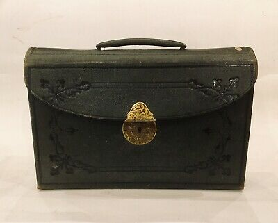 Antique Parkins Gotto Leather Stationery Case 1840 - 1890 Travelling Stationery
