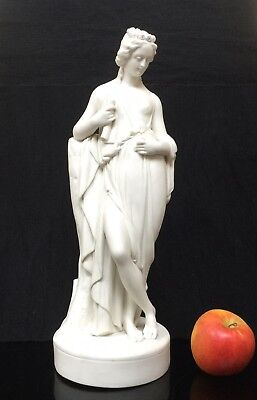 Antique Parian Neoclassical Figure Of Lady With Scroll Allegory Of Knowledge?