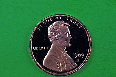 1989-S  Deep Cameo Lincoln Penny US GEM  Proof Coin