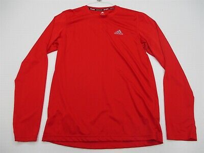 7ac678305e5d7 ADIDAS CLIMALITE MEN'S Red Athletic Long sleeve thermal Shirt Size M ...