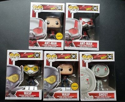 Funko Pop Marvel Ant Man & The Wasp Lot/5 Common & Chase + Ghost