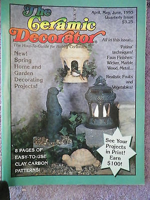 Ceramic Decorator Magazine - April, May, June 1995 How to Guide