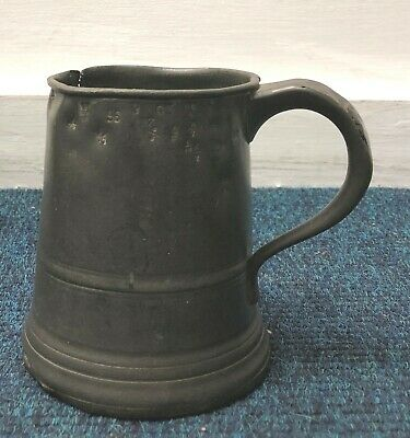 Antique Pewter Mug Tankard