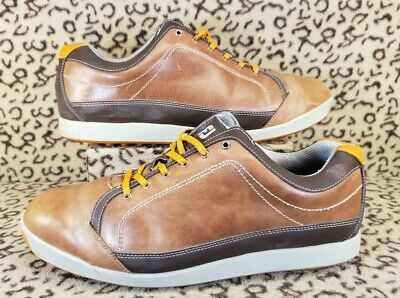 8658a28b328757 Footjoy Contour Casual Mens Golf Shoes Size 13 Wide Leather Spikeless 54222