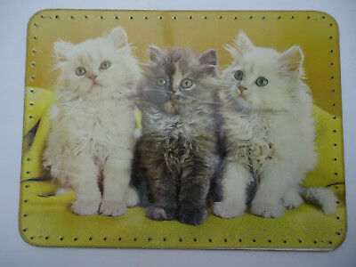 """New  (other) Tray Base 11 3/4"""" x 15 3/4"""" for Basket work Vintage Retro Kittens"""