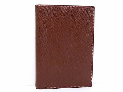 Authentic Hermes Couchevel Leather Agenda GM Diary Cover Case Bordeaux N449