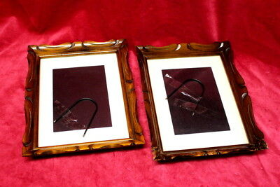 Pair of Carved Wooden Antique French Vintage Wall/desk Frame Art Decor All Posh