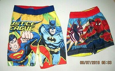 f6875343a2 JUSTICE LEAGUE 3T BOYS SWIM TRUNKS or SPIDERMAN TRUNKS 3T NWOT, CHOICE