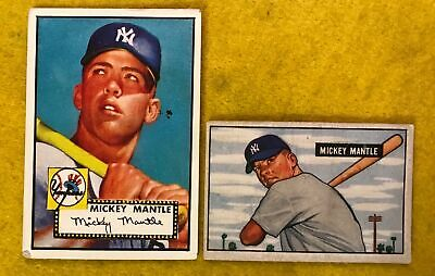 Mickey Mantle 1952 Topps Rookie Card Look 10000 Picclick