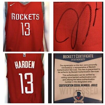 904444953eb James Harden Autograph Signed Houston Rockets Jersey Beckett COA + Hologram