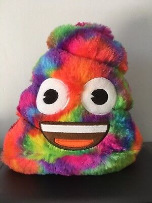 EMOJI Plush Rainbow Poop Bank 8""