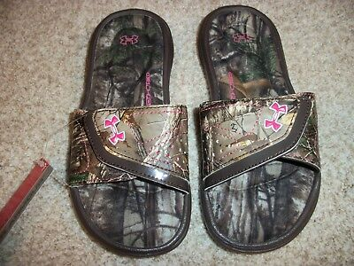 Under Armour Youth Girl/'s Ignite Camo Vii Slide #1255766-200 G2A m NEW