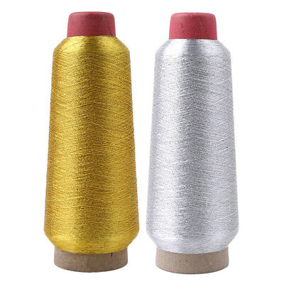 Light Gold Silver Sparkle Metallic Machine Embroidery Thread Colors SW
