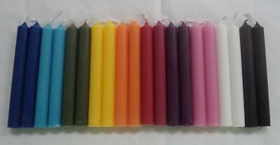 """Biedermann Brand Mini 4"""" Chime Spell Candles Magick Set 20 10 Assorted Colors"""