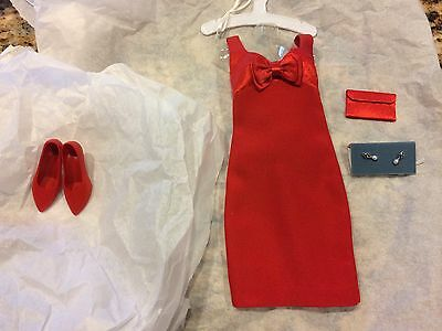 Franklin Mint Princess Diana Red Dress with Bow Fashion Outfit - NO BOX