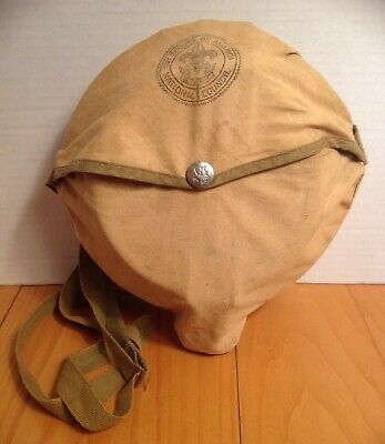 Vintage Official Boy Scout Scouts of America Cook Set With Canvas Cover & Strap
