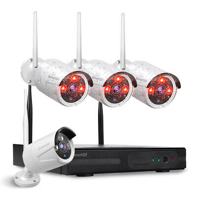 anni 8CH Wireless 1080P NVR Outdoor Home WIFI CCTV Security Camera System Kit