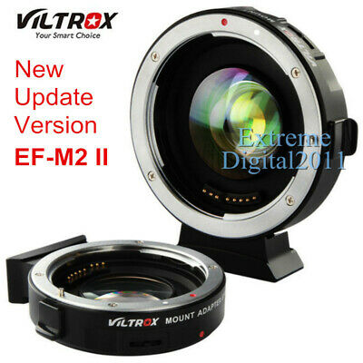 Viltrox EF-M2 II AF Adapter Focal Reducer Booster For Canon EOS EF Lens to M43