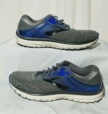 2c6cb6daccde9 BROOKS ADRENALINE GTS 18 Mens Gray Black Blue Running Athletic Shoes Size 7