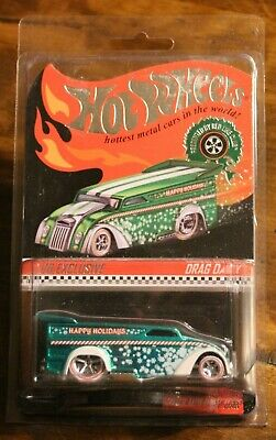 2013 Hot Wheels Rlc Red Line Club Drag Delivery Holiday Edition Low # 196/4000