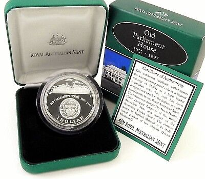 **1997 Australian Old Parliment House $1 silver Proof**