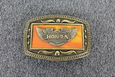 Vintage Honda Motorcycle Racing Wings CII New York Belt Buckle