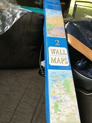 Highly detailed laminated wall maps: world map and Australia map 126x90 cm